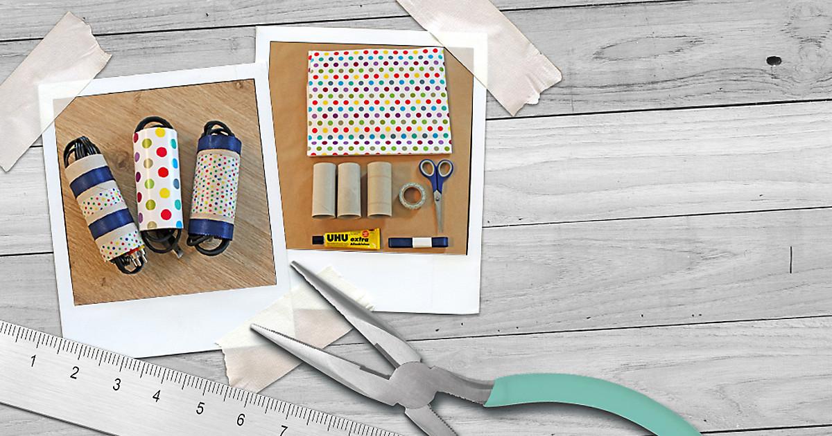 klopapierrollen gegen kabelsalat dm online shop magazin. Black Bedroom Furniture Sets. Home Design Ideas