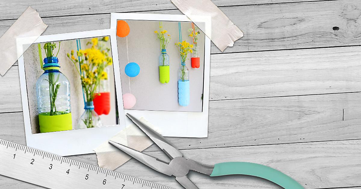 upcycling vasen aus plastikflaschen dm online shop magazin. Black Bedroom Furniture Sets. Home Design Ideas