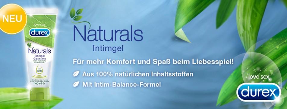 natürlich erregend, ohne Zusatzstoffe: Naturals Gleitgel von Durex