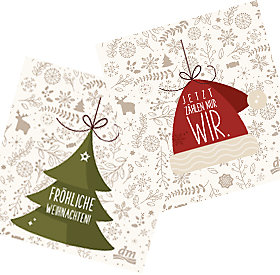 Weihnachtliche Geschenkanhänger zum Downloaden