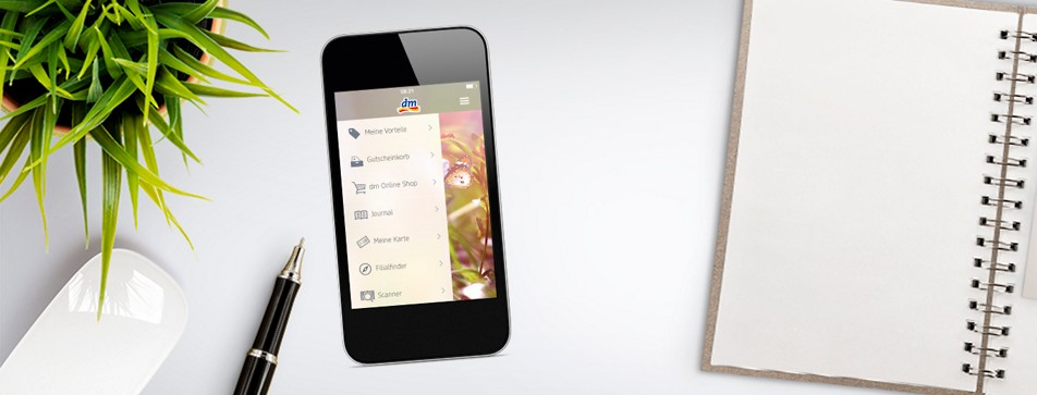 Mit der neuen dm App online einkaufen und viele Vorteile genießen.