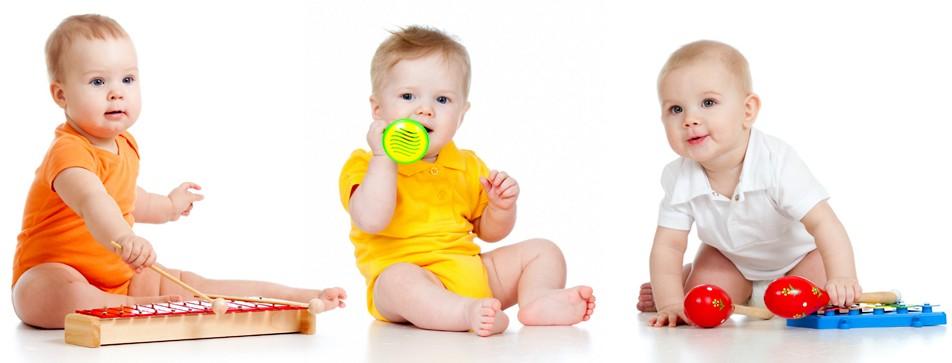 3 Babys ertasten die Welt