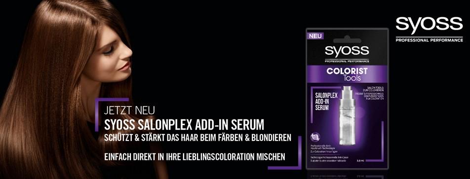 Testen Sie das neue SALONPLEX ADD-IN SERUM von SYOSS