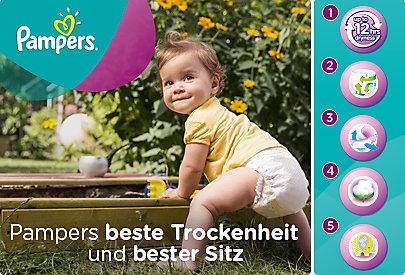 Für aktive Babys genau das richtige: Die Pampers Active Fit Windeln halten lange trocken!