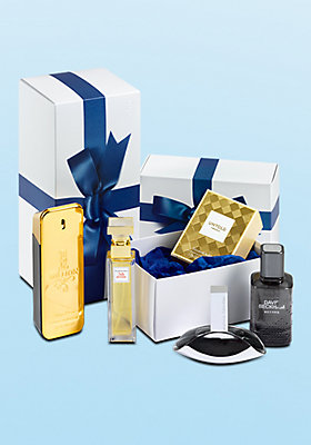 Jetzt Parfume oder andere Produkte als Geschenk verpacken lassen.