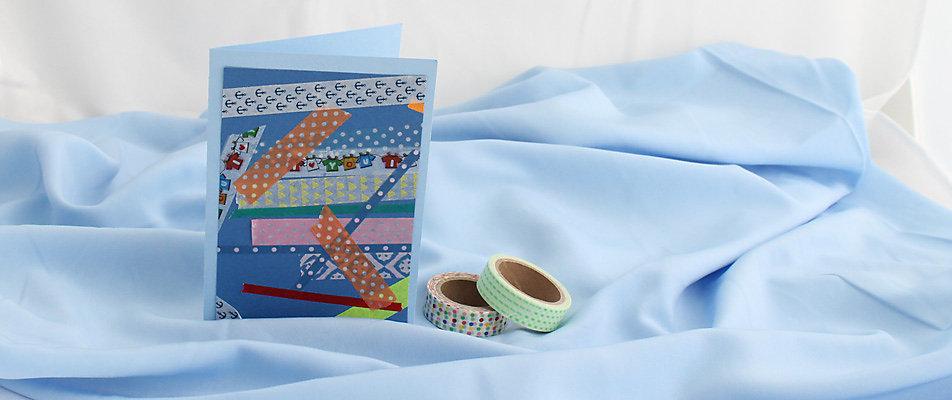 Selbstgemachtes Geschenk: Geschenkkarten aus Klebstreifen