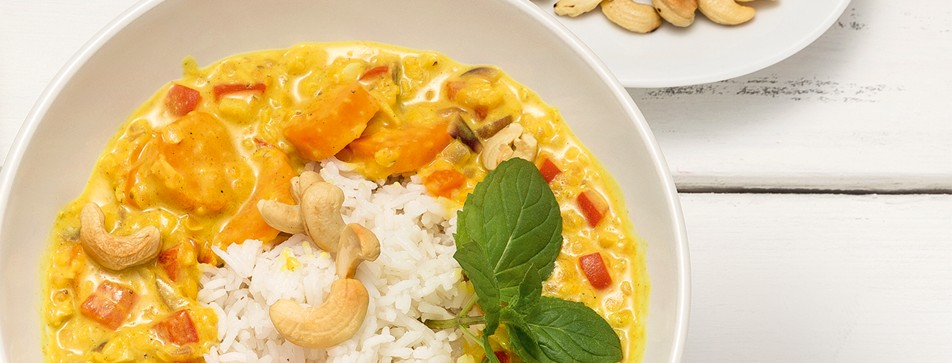 Rezept: dmBio Linsen-Curry mit Cashews