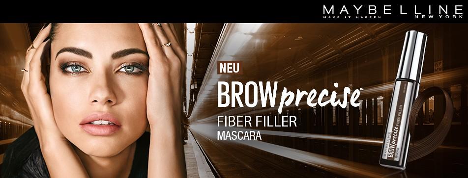 Extra volle Brauen mit dem Brow Precise Fiber Filler von Maybelline.