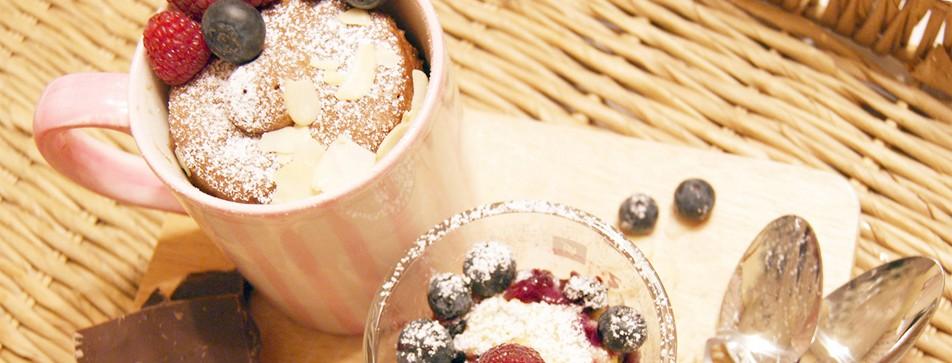 Mug-Cakes: Schneller Tassenkuchen aus der Mikrowelle.