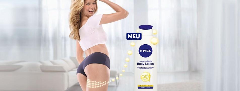 Knackige, elastische Haut - dank Nivea Q 10 Body Lotion.