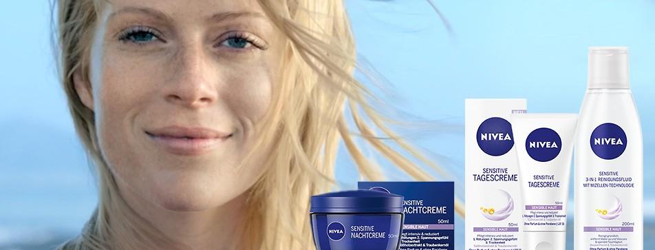 Die Nivea Sensitive Serie ist auf die Bedürfnisse der sensiblen, trockenen Haut abgestimmt.