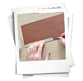 Papier ausmessen und zuschneiden