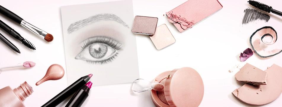 Make-Up für ausdrucksstarke Blicke.