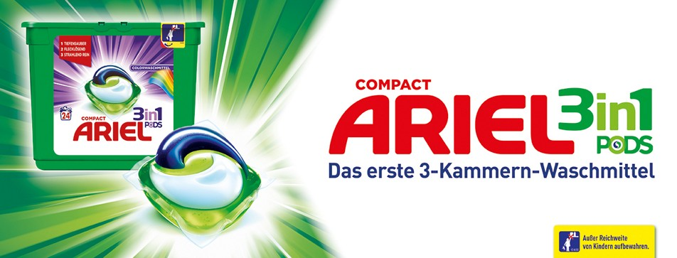 Mitmachen und die Ariel Pods 3in1 testen.