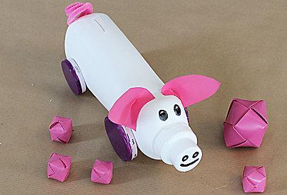 Das DIY Sparschwein ist fertig.