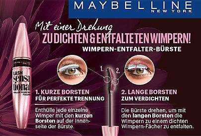 Längere und dichtere Wimpern - mit der LASH SENSATIONAL!