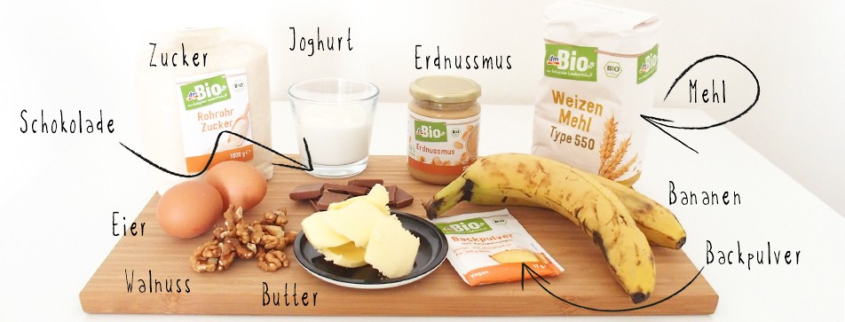 Rezept Bananenbrot: Zutaten