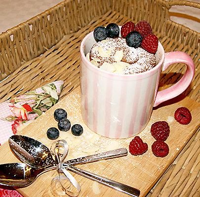 Tassenkuchen-Rezept: Schokoladenkuchen mit flüssigem Kern.
