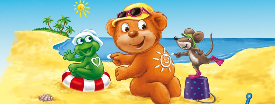 Strand, Schwimmbad, Spielen in der Sonne: Mit Sundance ist Kinderhaut richtig gschützt.
