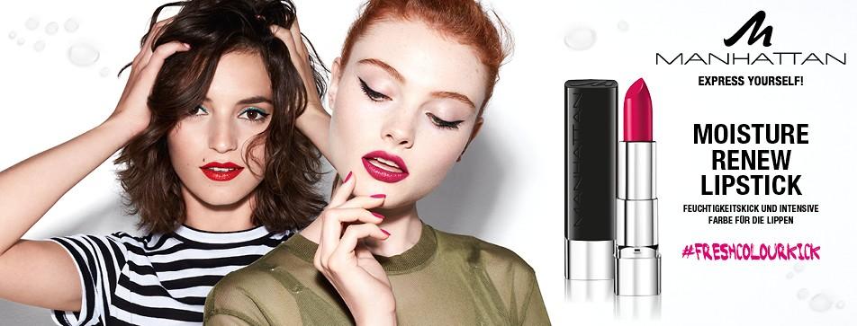 Pflegend und stylish: der Moisture Renew Lipstick von Manhattan.