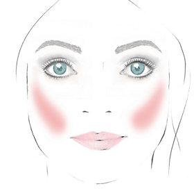 Rouge auftragen: rundes Gesicht - mehr Konur