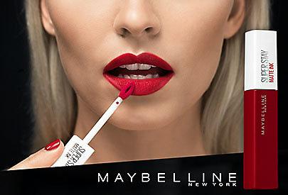 Langanhaltende, matte Farben auf den Lippen sind trendy: Probieren Sie dazu den Maybelline Super Stay Matte Ink Lippenstift!