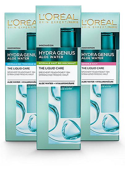 Ob für trockene, normale oder sensible Haut: Hydra Genius ist perfekt auf den jeweiligen Hauttyp abgestimmt.