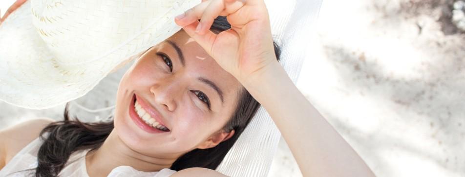 Empfindliche Haut braucht besonderen Schutz vor UV Strahlen.