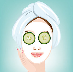 Erfrischung pur: Gurken-Topfenmaske