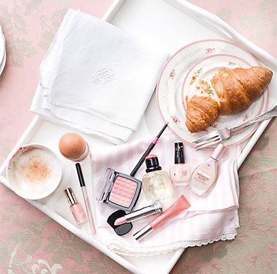 Zarte Pastelltöne zum Frühstück.