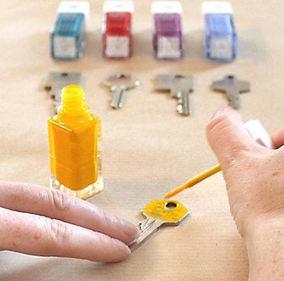 Gute Laune Farbe für Ihre Schlüssel