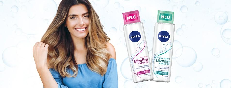 Frische und gesunde Kopfhaut mit NIVEA Mizellenshampoo