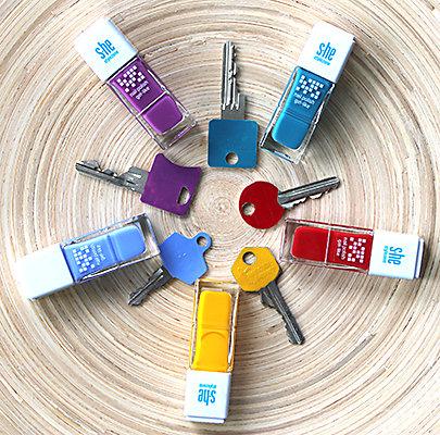 Farbenspiel auf Ihrem Schlüsselbund