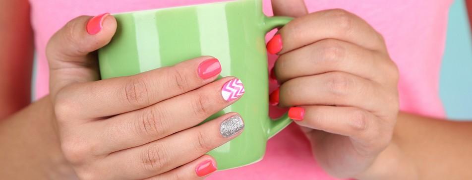 Perfekt lackierte Fingernägel