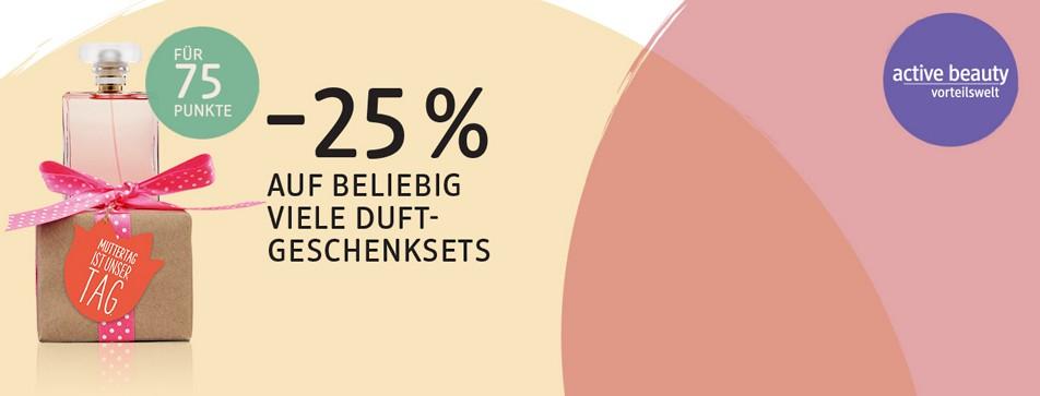 Minus 25 % auf beliebig viele Duft-Geschenksets.