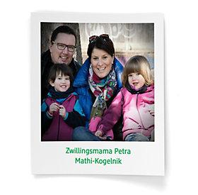 Zwillingsmama Petra mit Familie