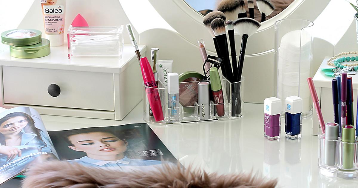 tipps f r die make up aufbewahrung dm online shop magazin. Black Bedroom Furniture Sets. Home Design Ideas