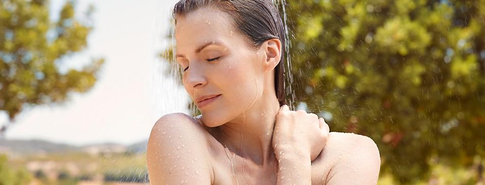 Für jeden Typ die richtige Weleda Dusche: reine Naturprodukte.