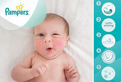 Für Neugeborene gibt es spezielle Pampers Feuchttücher, die besonders mild sind.