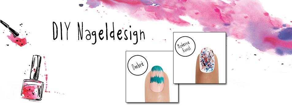 Trendige DIY Nageldesigns für den Sommer.