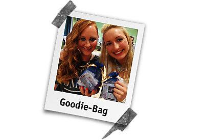 Goodie-Bags für die frisch geschminken Kundinnen