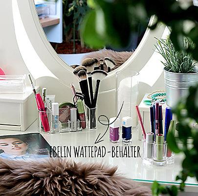 Tipps zur Make-Up-Aufbewahrung: Der neue Wattepad-Behälter von ebelin.