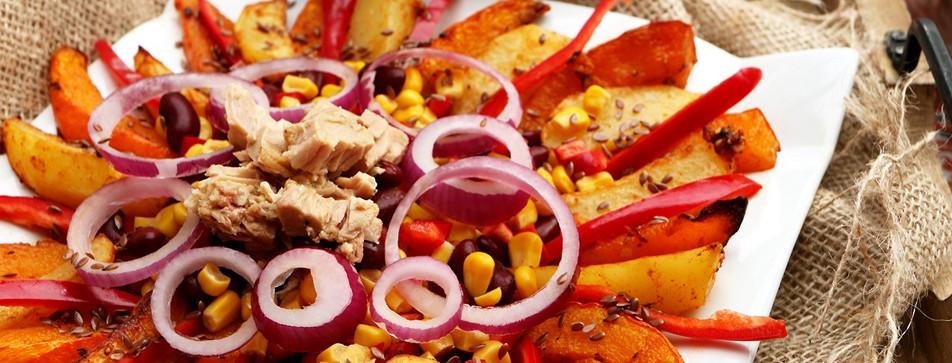 Rezepttipp: Herbstsalat mit Thunfisch, Kürbis und Kartoffeln.