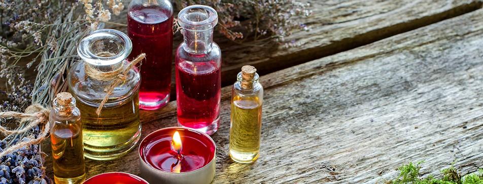 Dusch-Öle für trockene Haut.