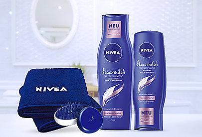 NIVEA Haarmilch-Produkte sind exakt auf die individuellen Bedürfnisse der Haarstruktur abgestimmt.