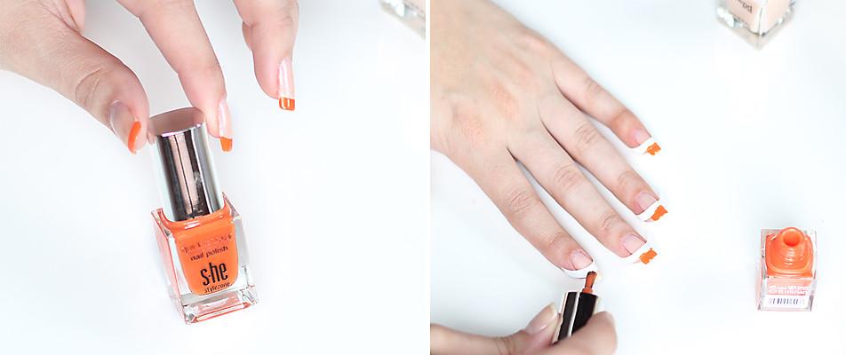 Step 2: Nagelspitzen lackieren