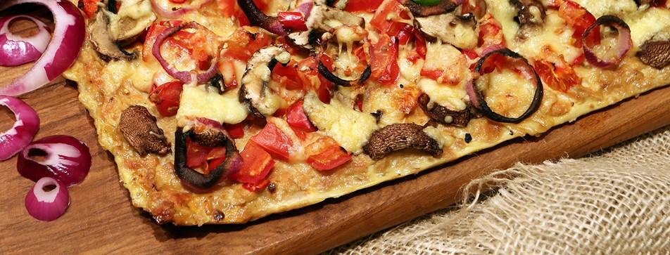 Pizza Rezept ohne Weizenmehl.