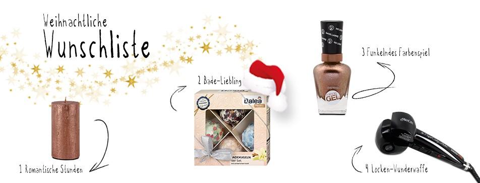 Weihnachtswunschliste im dm Online Shop.