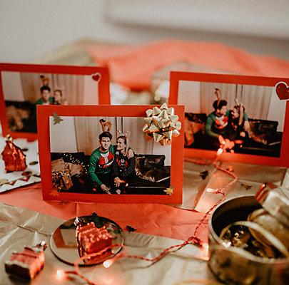 Die selbst gebastelte Weihnachtskarte
