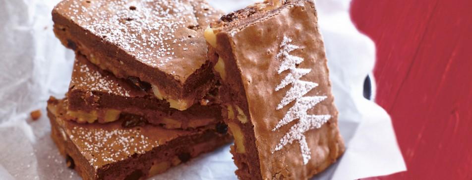 Schoko-Bratapfel-Brownies